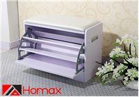 דיל יומי - מושב התארגנות מבית Homax כולל מדף משולש לנעליים וריפוד לישיבה