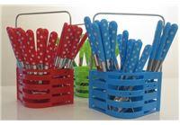 """סט סכו""""ם 24 חלקים יפייפה במבחר צבעים כולל מעמד לכלים"""