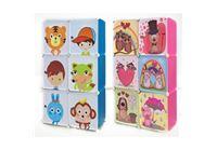כוורת מודולארית מעוצבת לאחסון צעצועים בחדרי ילדים 4 או 6 תאים