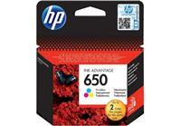 דיו צבעוני מקורי HP 650 CZ102AE