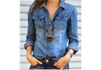 חולצת ג'ינס משופשת  !!! הפריט שתמיד...אבל תמיד נשאר באופנה, בהמון מידות