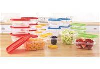 סט 18 או 25 קופסאות אחסון מזון הרמטיות בגדלים שונים