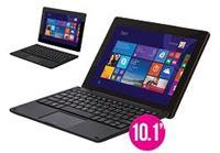 "NEXTBOOK טאבלט 10.1"" קל במיוחד כולל מקלדת נשלפת, Office Starter, מעבד Quad Core ומערכת הפעלה Windows 10"