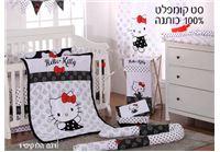 סט קומפלט למיטת תינוק: שמיכה + מגן ראש + סדין מבית לורה סוויסרה
