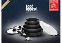 סט 9 חלקים יציקת אלומיניום FOOD APPEAL מסדרת BLACK MARBLE
