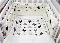 סט מצעים יוקרתי למיטת תינוק 100% כותנה עם פיקה -כולל מגן ראש, שמיכה וסדין רק 189 ₪    משטח החתלה עם שעוונית ב- 99 ₪