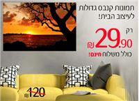 תמונות קנבס גדולות לבית ב- 29.90 ₪ כולל משלוח חינם! מגוון ענק לבחירה