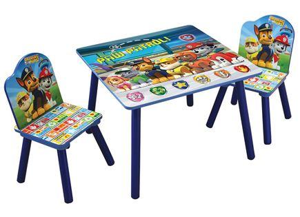 כסא ושולחן עץ לילדים של Disney