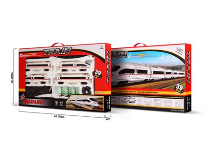 רכבת מסלול סגלגל - 39 חלקים