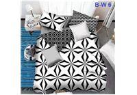מערכת מצעים black@white עשויה סאטן אל קמט למיטת יחיד, מיטה וחצי ומיטה זוגית