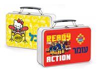 מזוודות מתכת מעוצבות עם שם אישי ודמויות ממותגות