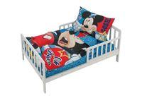 סט למיטת מעבר/תינוק מיקי מאוס 100% כותנה