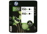 זוג ראשי דיו מקורי HP 950XL