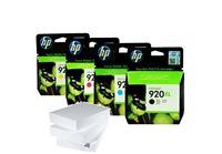 מארז הדיו מקורי והנייר המושלם HP 920XL