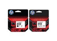 סט דיו מקורי HP 652 (שחור וצבעוני)