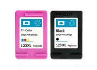 זוג ראשי דיו שחור וצבעוני תואמים HP 123XL
