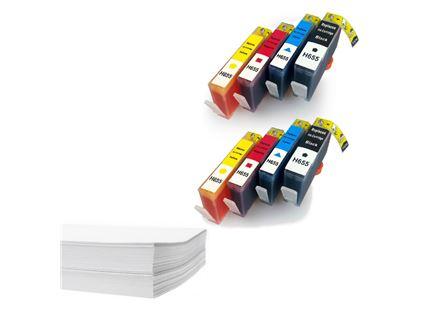 חבילת נייר ושני סטים דיו תואם HP 655