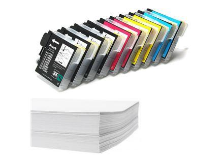 חבילת נייר ומארז דיו תואם מושלם BROTHER LC980