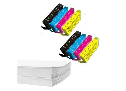 חבילת נייר ושני סטים דיו תואם HP 178XL