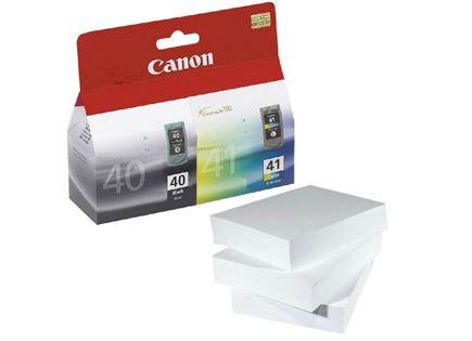 מארז נייר דיו מקורי צבעוני ושחור Canon PG40 CL41