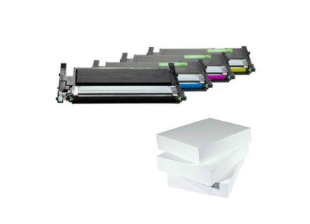מבצע שלוש חבילות נייר וסט טונרים תואם Samsung 406s