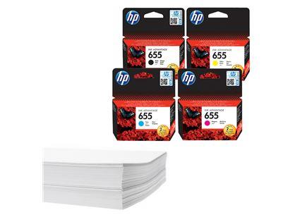 חבילת נייר וסט דיו מקורי HP 655