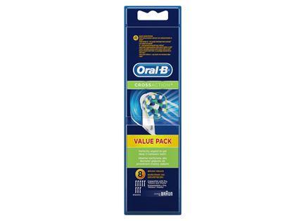 שמיניית ראשים למברשת שיניים Oral-B דגם CrossAction