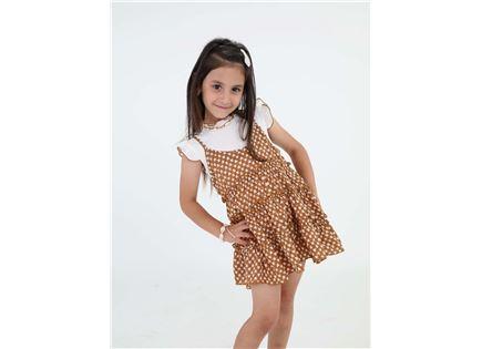 שמלת קולר פגי חום ילדים סטייל ריבר