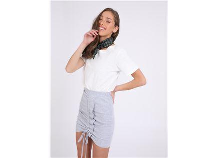 חצאית כיווצים טרינטי אפור סטייל ריבר
