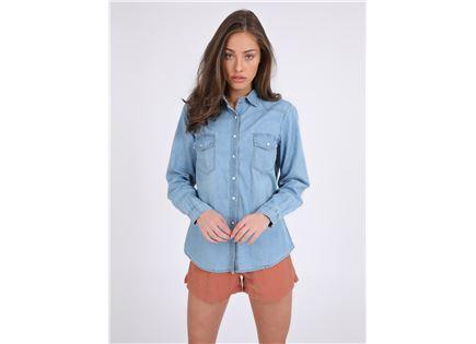 חולצת ג'ינס דונה תכלת סטייל ריבר