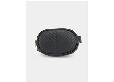 תיק חגורה סטיב מאדן לנשים - STEVE MADDEN BELT BAG BLACK
