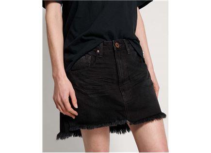 חצאית וואן טיספון שחורה לנשים - ONE TEASPOON RAVEN VANGUARD