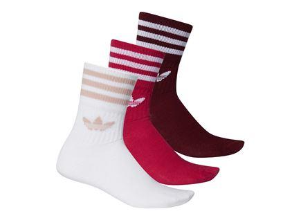 גרביים יוניסקס אדידס - MID-CUT CREW 3 צבעים