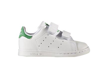 נעלי תינוקות לבנות וירוקות - Adidas Stan Smith
