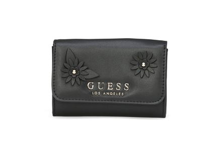 GUESS נשים // LIZZY DOUBLE DATE WALLET BLACK