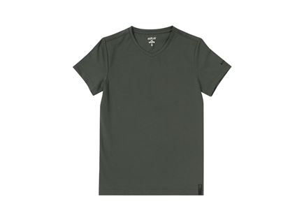 REPLAY גברים // V NECK T-SHIRT OLIVE