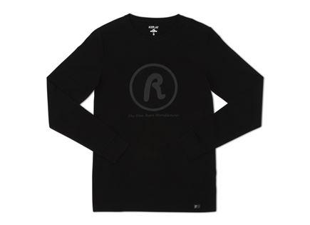 REPLAY גברים// CREW NECK L/S T-SHIRT BLACK