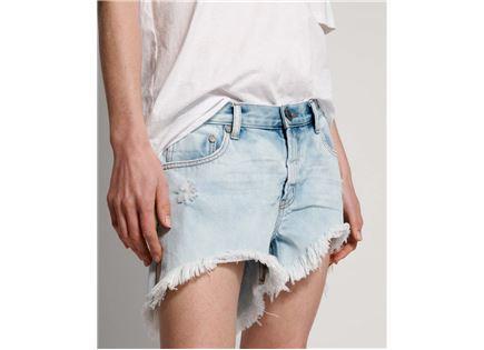 ג'ינס וואן טיספון קצר לנשים - ONE TEASPOON WILDE BLUE MARLONS