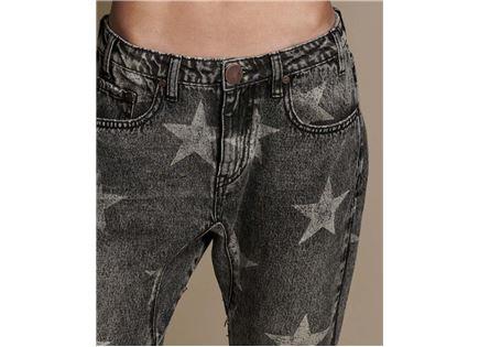 ג'ינס וואן טיספון שחור לנשים - ONE TEASPOON CAMDEN STAR SAINTS