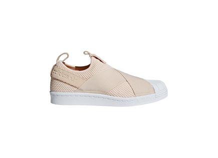 נעלי אדידס סופרסטאר בז' לנשים  - ADIDAS SUPERSTAR SLIP ON