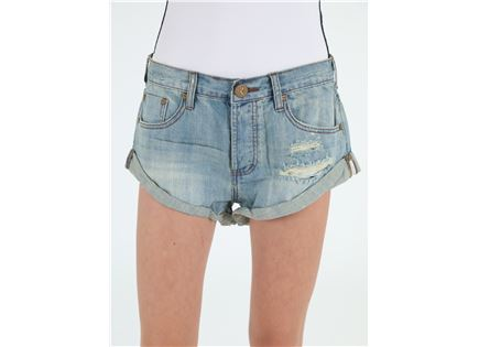 ג'ינס וואן טיספון קצר לנשים - ONE TEASPOON COUNTRY BANDITS