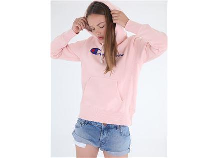 CHAMPION נשים// HOODED SWEATSHIRT PINK