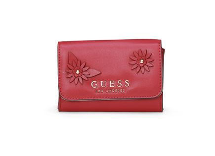 GUESS נשים // LIZZY DOUBLE DATE WALLET RED