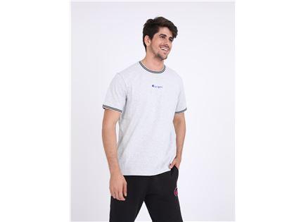 CHAMPION גברים - חולצת פסים אפור