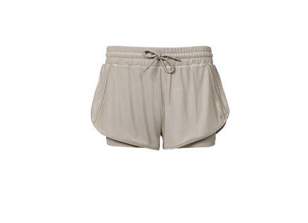 מכנס ספורט קצר סקצ'רס בז' לנשים