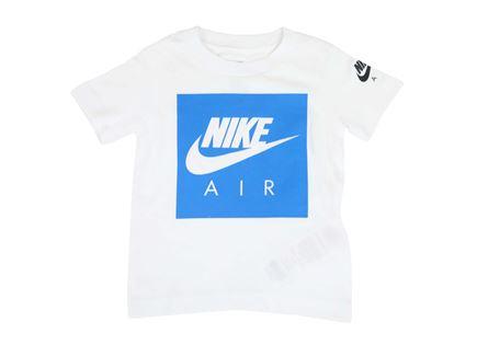 חולצה נייקי קצרה לבנה לפעוטות - NIKE AIR BOX LOGO TEE