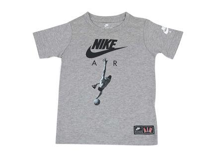 חולצה נייקי קצרה אפורה לילדים - NIKE ICON AIR GREY