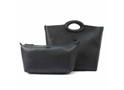 GUESS// DIGITAL CUT OUT TOTE BLACK