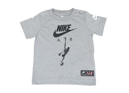 חולצה נייקי קצרה אפורה לפעוטות - NIKE ICON AIR GREY