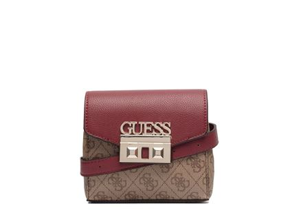GUESS// LOGO LUXE BELT BAG BROWN
